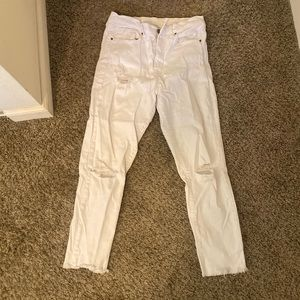 Urban Outfitters BDG White High Waisted Jeans